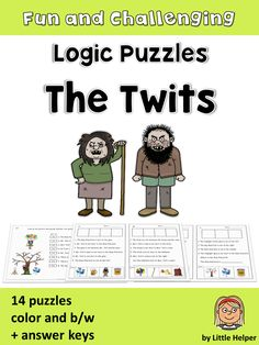 Logic puzzles with the adorable characters from The Twits. This set of 14 logic puzzles provides practice in reading accuracy and higher order thinking skills. Students must read attentively to find out the precise position of each character.