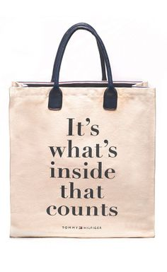It's Whats Inside the Bag that Counts #tommyhilfiger #quote