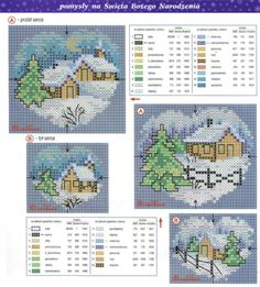nontradit christma, christmas cards, crossstitch, christma landscap, christma cross, christmas scenes, cross stitches, cross stitch landscape