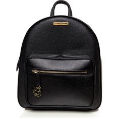 Cathias Edeline Black Backpack ($161) ❤ liked on Polyvore featuring bags, backpacks, black, daypack bag, rucksack bags, day pack backpack, backpack bags and knapsack bag