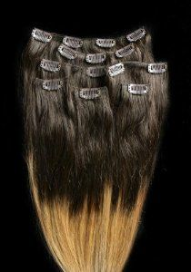 """18"""" 100% REMY Human OMBRE Hair Extensions 7Pcs Clip in #T2/27 by Hair faux You. $69.99. Easy to attach and remove, totally DIYable.. Full Head 18"""" 100% REMY Human OMBRE Hair Extensions 7Pcs Clip in #T2/27. High quality, tangle free, silky soft & thick;. 100% human hair, can be curled, dyed, straightened;. High quality metal clip, corresponding colors looks natural;. 18"""" 100% REMY Human OMBRE Hair Extensions 7 Pcs Clip in #2/27 .The top is #2 (Darkest Brown) to a #27 (Stra..."""