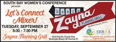 Let's Connect Mixer @ Zayna Flaming Grill September 27, 2016  #SouthBay #Events #WhatsHappeningInTheShouthBay #WhatsHappening