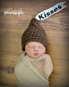 Kisses Crochet Newborn Hat... Would be soo cute for valentines day!