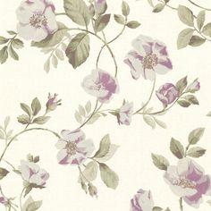 344-68720 Pink Dog Rose Trail - Dorothea - Beacon House Wallpaper