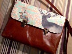 Leather bag, customizable whims. Hand made by Carlalluna in DaWanda