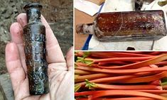 Archaeologists are to recreate a drink once found in a 150 year-old bottle (left). Chrysalis Archaeology dug it up with 100s of others (top ...