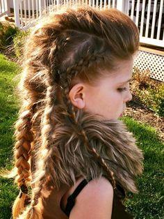 Lost boys hair- braids-faux hawk- girls costume