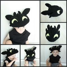 Ravelry: Toothless (9 Month - Adult) Hat Pattern, How to Train your Dragon pattern by Briana K Crochet