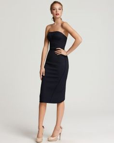 Zac Posen Dress - Strapless Fitted | Bloomingdale's