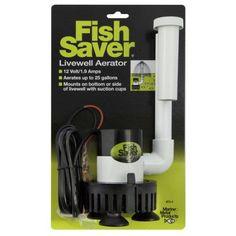 Fish Saver 12V Livewell Aeration Pump, Multicolor