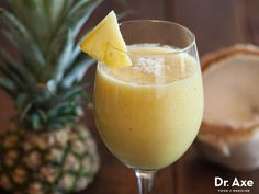 Coconut is a medium chain fatty acid which is easily digested and converted to energy instead of being stored as fat! Try this Piña Colada Smoothie Recipe!