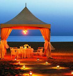 The Ritz-Carlton, Dubai dinner by the ocean