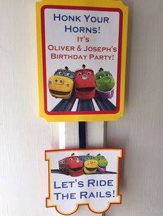 Chuggington Party Door Sign by ReallyRenata on Etsy