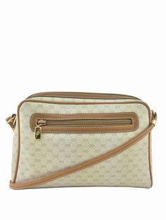 01ef56ed6bd Gucci Vintage Monogram Canvas Crossbody Shoulder Bag Ivory Louis Vuitton  Resale