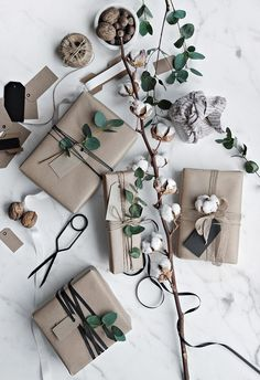 Get in the holiday spirit! As you're buying gifts, add a personal touch with Unique 50 Christmas gift wrapping ideas! Upcycled Kraft Paper Gift Wrapping Ideas From: The Found and The Fancy How to P… Wrapping Ideas, Creative Gift Wrapping, Present Wrapping, Creative Gifts, Paper Wrapping, Christmas Gift Wrapping, Christmas Presents, Holiday Gifts, Christmas Gift Parents