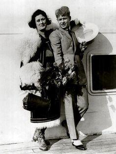 Айседора Дункан и Сергей Есенин 1920-е годы