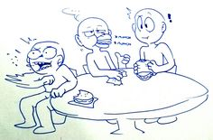 Draw Your OC/OTP/Squad — chimeo-clock:   Draw the squad *eating burgers*