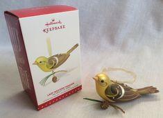 Hallmark Keepsake Ornament Lady Western Tanager The Beauty of Birds 2015 #Hallmark