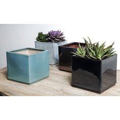 8 Piece Square Pot Planter Set - Campania International