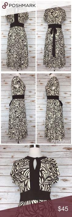 05fa09654 Eliza J Brown Keyhole Front Tie Dress