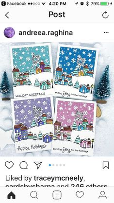 Christmas Cards 2018, Xmas Cards, Holiday Cards, Scrapbooking, Scrapbook Cards, Sweet Stamp Shop, Lawn Fawn Stamps, Card Patterns, Winter Cards