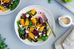 Beet Salad with Goat Cheese, Walnuts and Citrus Tahini Dressing | Picture the Recipe