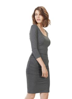 f4be481453 Heath Ruched Dress Ruched Dress, Dark Grey, Dresses For Sale, Shirred Dress