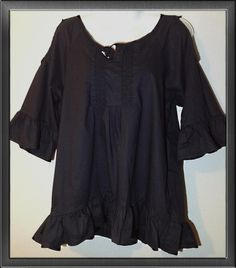Lace summer Baby doll blouse- Black and White