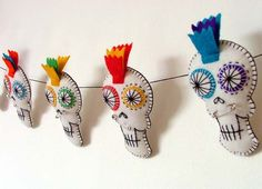 Punk Sugar Skull Garland. $60.00, via Etsy.