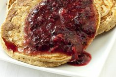 Blueberry Coulis Pancakes - Eggs - Recipe Detail - expatwoman.com