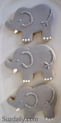 elephants cookie. I'll have to make these for Izzie one day.