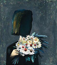 The Bouquet, 1959, Charles Blackman. Australian, born in 1928.