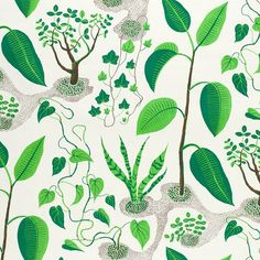 The Window print is comprised of common houseplants, perhaps some of them adorned Josef Frank's apartment at Park Terrace Gardens in Manhattan. - Textile Window, Linen 315, Window, Josef Frank