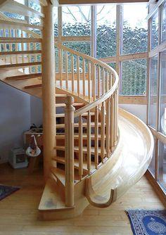 spiral stairs + slide. weeeeeee!