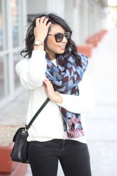Oversized scarf, burgundy booties, winter fashion, fall fashion, prada sunglasses, Ditto - endless eyewear for $24/month (use code RDSOBSESSIONS to get your first month free!)