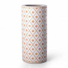 Paragüero cerámica redondo blanco Lunares en Nuryba.com tu tienda de muebles y decoracion online