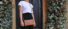 Leather clutch made out of vegetable tanned leather. handmade from start to finish. Vicus Pelle