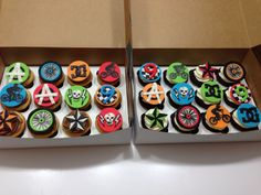 BMX inspired cupcakes by Custom Cakes by Emilie.