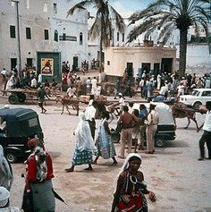 Mogadishu, Somalia during a peaceful era.