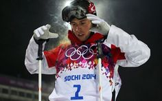 Alex Bilodeau Puts on His Goggles Just Before His Olympic Ski Run
