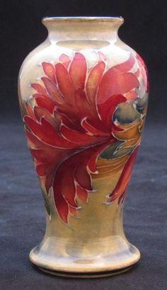 William Moorcroft Miniature Vase in the Spanish Design Dated: c. 1914