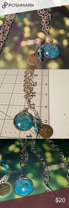 Handmade necklace Dazzling one of a kind Jewelry Necklaces Handmade Necklaces, Jewelry Necklaces, Handmade Jewelry, Diy Necklace Making, Blue And Silver, Make Your Own, Closet, Fashion Design, Vintage