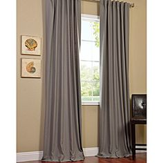 Cotenza Steel Grey Faux Cotton Curtain Panel