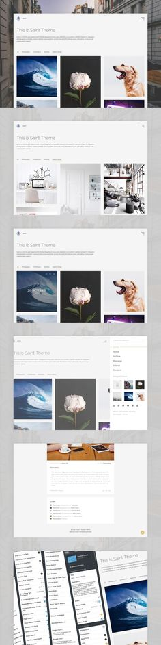 Saint Tumblr Theme - BLACK FRIDAY. Tumblr Themes. $9.00
