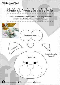 "title=""peso de porta de gato em feltro"""