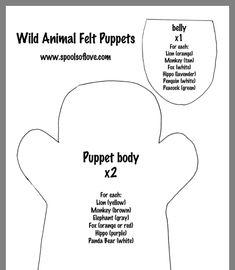 Felt Puppets, Hand Puppets, White Peacock, Grey Fox, Panda Bear, Elephant, Ideas, Baby Dolls, Felt Dolls