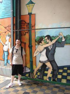 Eu em La Boca, Buenos Aires, Argentina.