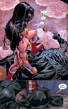 Even Batman knows not to mess with Wonder Woman