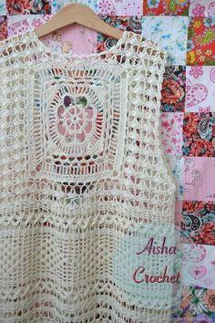 Fabulous Crochet a Little Black Crochet Dress Ideas. Georgeous Crochet a Little Black Crochet Dress Ideas. Crochet Diy, Crochet Jumper, Black Crochet Dress, Easy Crochet Projects, Crochet Blouse, Crochet Shawl, Crochet Designs, Crochet Patterns, Popular Crochet