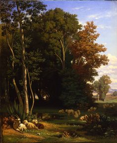 Jean-Achille Benouville - Landscape with Animals, 1842.jpg